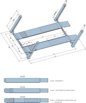 4-pelarlyft 4-ton
