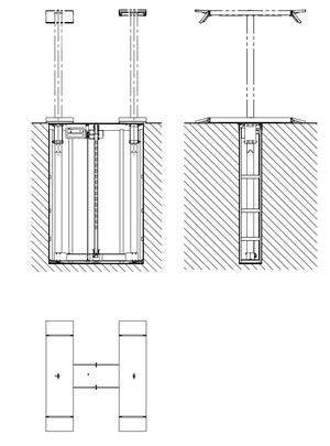 Ingjutningslyft 3,5 ton